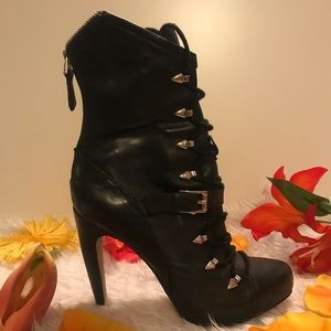 Sam & Edelman Black Leather Boots